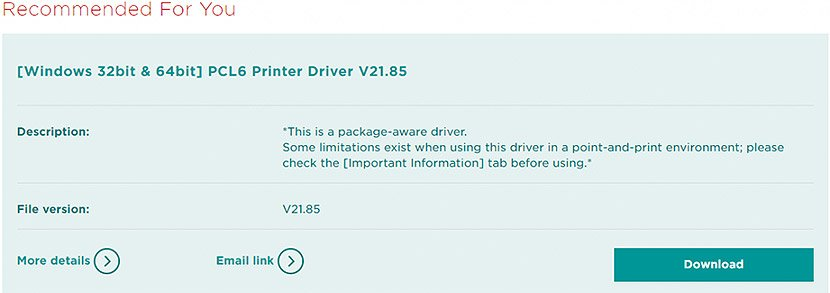 Choose Recommended Driver