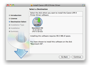 Install Driver Selected Disk